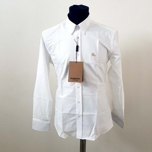 Burberry London England White Casual Shirt